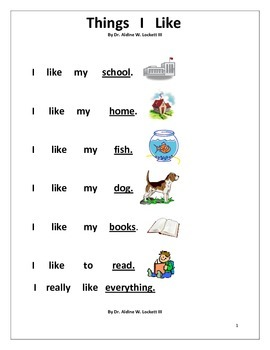 Beginning Reading Practice Sheets Sight Words