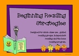 Beginning Reading Strategies - So Many Different Ways to U