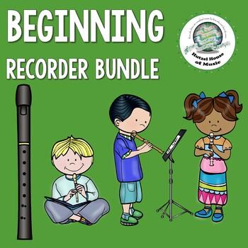 Beginning Recorder Bundle- Handouts, Bulletin Board, Orff Song, Sticker Chart