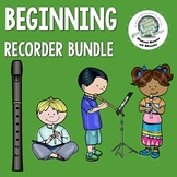 Beginning Recorder Bundle- Handouts, Bulletin Board, Orff Song, Sticker Chart