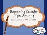 Beginning Recorder Sight Reading Game
