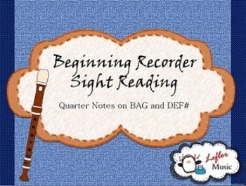 Beginning Recorder Sight Reading Game