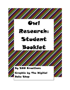 Beginning Research Booklet: Owls