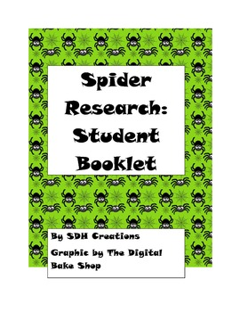 Beginning Research Booklet: Spiders