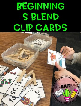 Beginning S Blend Clip Cards