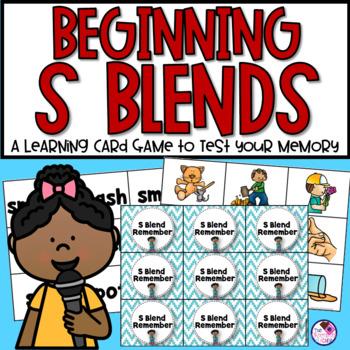 Beginning S Blends Memory Game