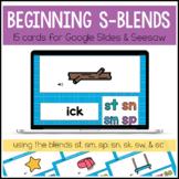 Beginning S Blends for Google Slides™ and Seesaw