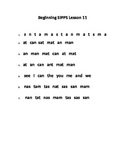 Beginning SIPPS Lesson 11 Student Copy