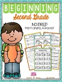 Beginning Second Grade (Back to School NO PREP Math and ELA Packet)
