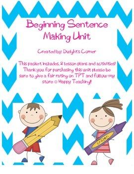 Beginning Sentence Making