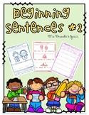 Beginning Sentences #2