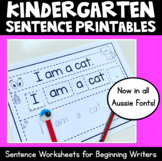 Beginning Sentences Print & Go Worksheets