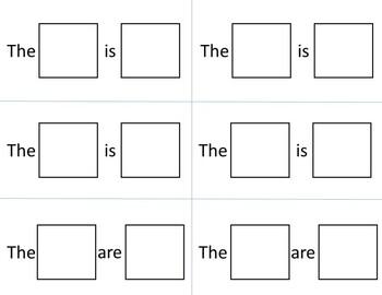 Beginning Sentences Task Box or File Folder