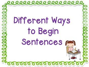 Beginning Sentences in Different Ways
