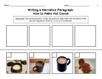 Beginning Sequence Paragraph - How to Make Hot Chocolate