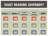 Beginning Sight Reading Jeopardy
