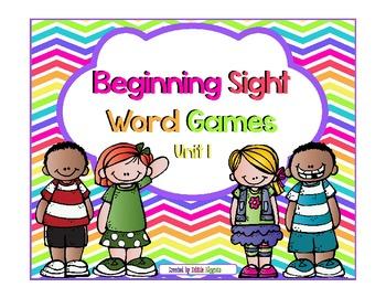 Beginning Sight Word Activities: Unit 1