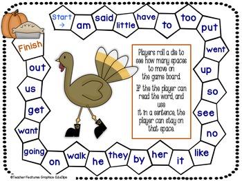 Beginning Sight Word Games FREEBIE