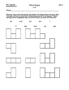 Beginning Sight Word, Lists, Activities, and Fluency