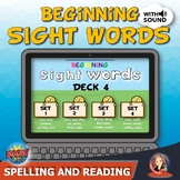 Beginning Sight Word Practice with Digital Boom Cards Deck 4