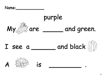 Beginning Sight Word Sentence Practice- Set 2