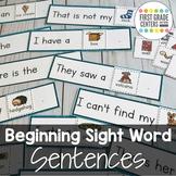 Sight Word Sentences Literacy Center + Editable Template