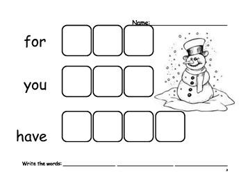 Beginning Sight Word - Set 3 - Word Practice