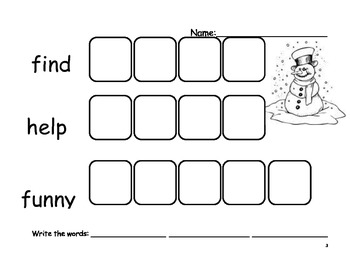 Beginning Sight Word - Set 4 - Word Practice