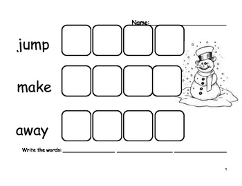 Beginning Sight Word - Set 4 - Word Practice