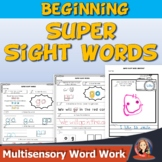 Beginning Sight Word Worksheets and Activities