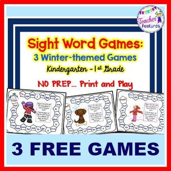 Winter-themed Sight Words Games