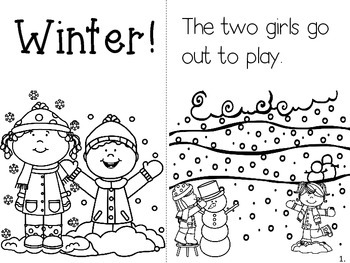 Beginning Sight Words Reader and Flash Cards (Winter Theme)