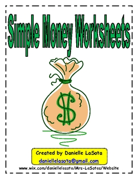 Beginning/ Simple Counting Money Worksheets Using New Coins