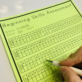 Beginning Skills Assessment- Back to School