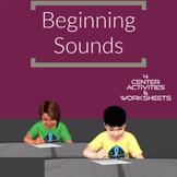 Beginning Sound   4 Games & Worksheets