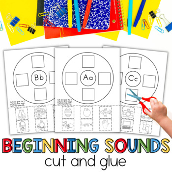 Beginning Sounds A-Z Cut and Glue