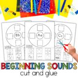Beginning Sounds A-Z Cut and Glue Phonemic Awareness for Kindergarten