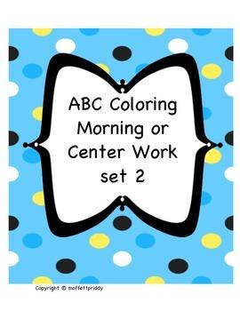 Beginning Sound ABC morning or center work set 2