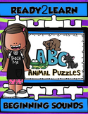 Beginning Sound ANIMAL ABC PUZZLES {Ready2Learn}