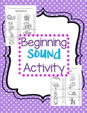 Beginning Sound Activity - center or assessment