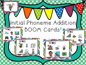 Beginning Sound Addition BOOM TASK CARDS!