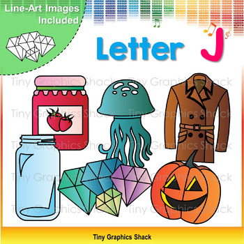 Beginning Sound Alphabet Clip Art J