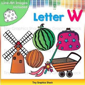 Beginning Sound Alphabet Clip Art W