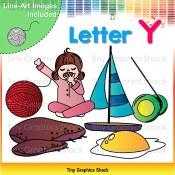 Beginning Sound Alphabet Clip Art Y