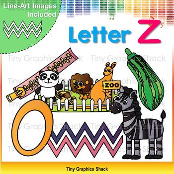 Beginning Sound Alphabet Clip Art Z