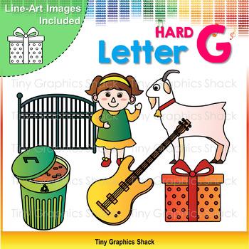 Beginning Sound Alphabet Hard G Clip Art