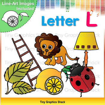 Beginning Sound Alphabet L Clip Art
