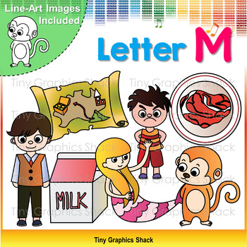 Beginning Sound Alphabet M Clip Art