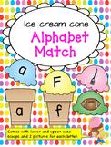 Beginning Sound Alphabet Matching Game: Ice Cream Sort