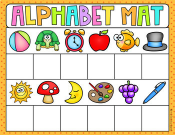 Beginning Sound Alphabet Mats - Literacy Center